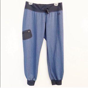 NORTH FACE Crop Jogger Athletic Pants Medium Blue